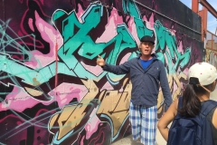 Guided Tour of Bushwick Graffiti, our great guide Mar!